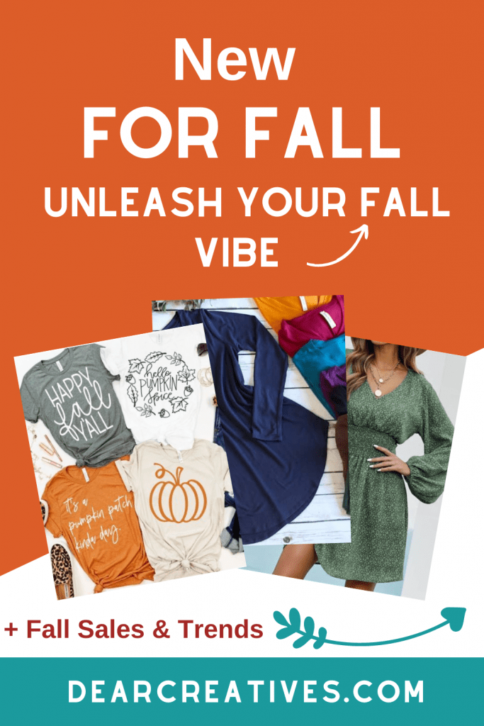 Cute Tee shirts, tunic shirts, clutch purses, dresses, sweaters, new collections of fall women's fashions... DearCreatives.com