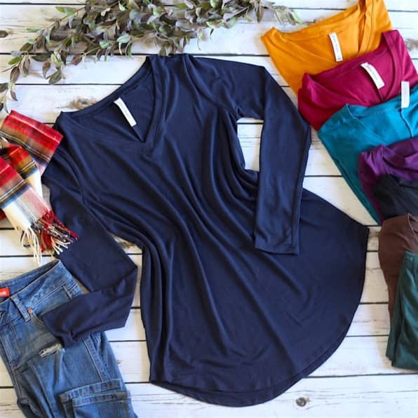 Long Sleeve Tunic in many colors sizes for women
