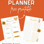 Craft Planner - Two Page Planner for keeping track of your projects. These are free printable planner pages that are perfect for crafters and people who love to DIY projects. DearCreatives.com