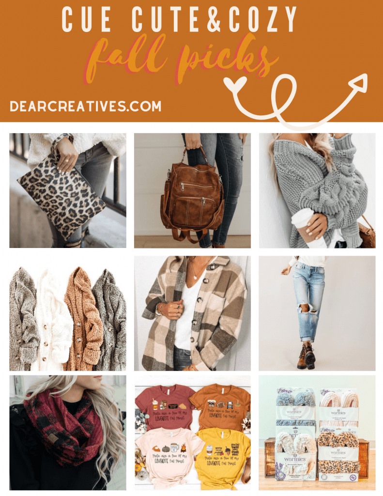 Fall styles - Cute and cozy fall picks for women. Find out more at DearCreatives.com