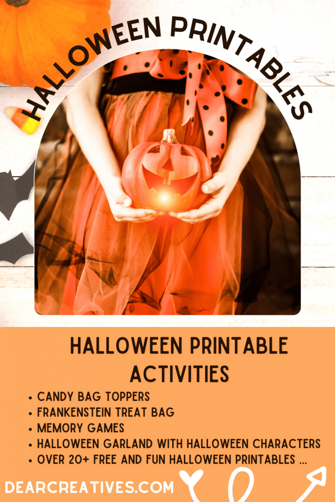Halloween Printables - printables that are fun for before Halloween, activities for October, and for Halloween celebrations. See all the ideas to do and print at DearCreatives.com