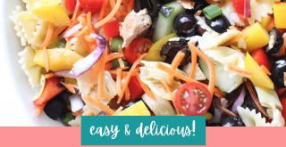 Chicken Pasta Salad - easy to make. Get the recipe for pasta salad with chicken at DearCreatives.com